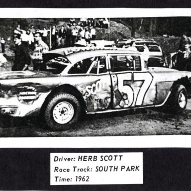 #57 Herb Scott at South Park (PA) Speedway 1962