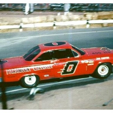 1963 NASCAR Motor Trend 500 - Dave MacDonald in Holman Moody Chevy