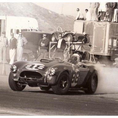 1963 Del Mar - Dave MacDonald in Shelby Cobra