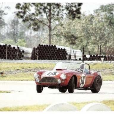 1963 12HRS of Sebring - Dave MacDonald in Shelby Cobra