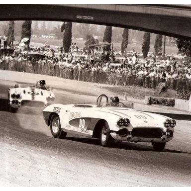 1962 Pomona Raceway - Dave MacDonald in #00 Vette