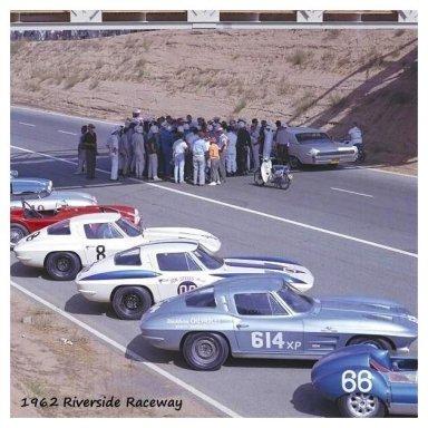 1962 Riverside GP - Dave MacDonald in first Z06 Corvette
