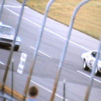 USAC #42 Mark Dinsmore #16 Jim Tobin  #56 Jim Hurtubise 1972 Twin 200's @ MIchigan