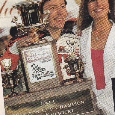 ALAN KULWICKI 1992 WINSTON CUP CHAMPION
