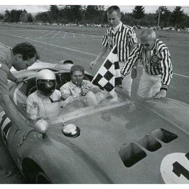 Dave MacDonald & Jim Hall - 1964 USRRC Championships at Kent Wash