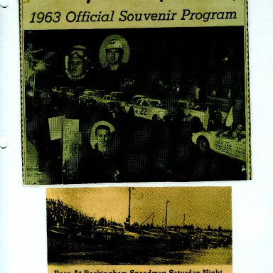 1963 ROCKINGHAM SPEEDWAY PROGRAM COVER