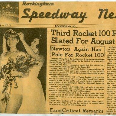 1964 ROCKINGHAM SPEEDWAY NEWS PAPER