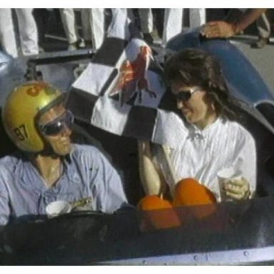 1963 LA Times GP - Dave & Sherry MacDonald in victory circle