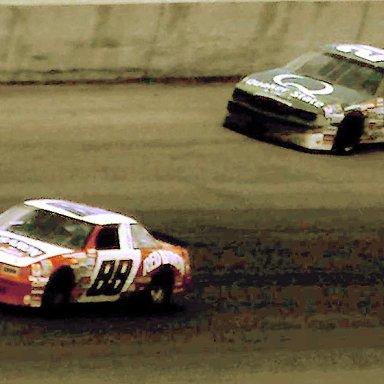 #88 Buddy Baker #26 Ricky Rudd 1988 Miller High life 400 @ Michigan