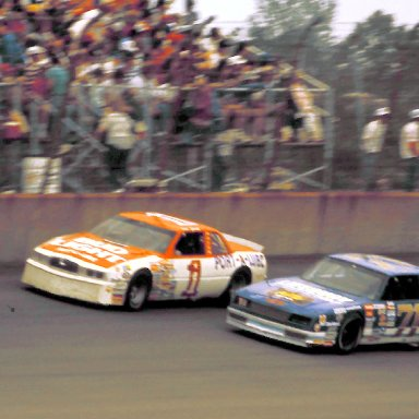 #1 Dale Jarrett #71 Dave Marcis 1988 Miller High Life 400 @ Michigan