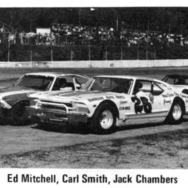 #33 Ed Mitchell - #26 Carl Smith - #25 Jack Chambers @ Heidelberg (PA) Raceway 1971