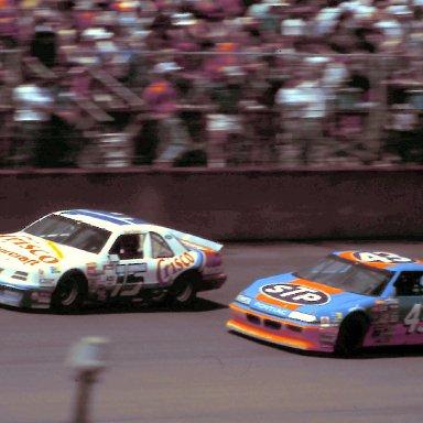 #15 Brett Bodine #43 Richard Petty 1988 Miller High Life 400 @ Michigan