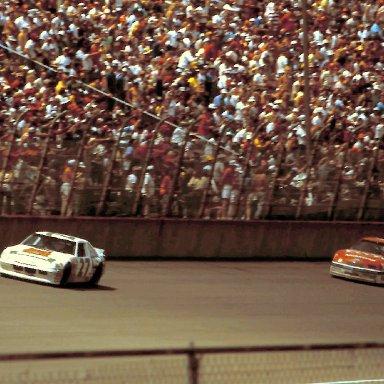 #27 Rusty Wallace #9 Bill Elliott 1988 Miller High Life 400 @ Michigan