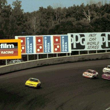 #9 Bill Elliott last lap 1986 Champion Spark Plug 400 @ Michigan