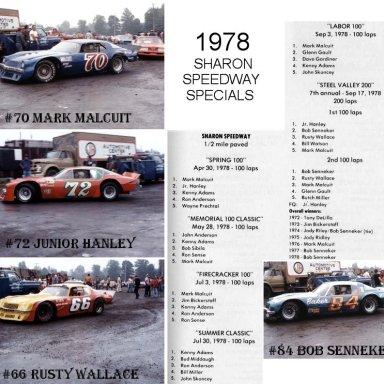 1978 Specials @ Sharon (OH) Speedway