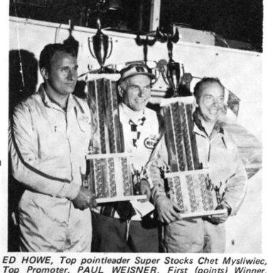 Berlin (MI) Raceway 1970 Points Champions