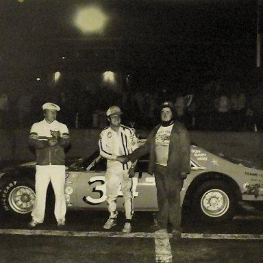 Lennie Curry Winning The Mid Seasaon Championship in The Roache Bros Nova-Atlantic Speedway(NS) 1978