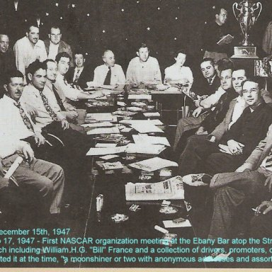 NASCAR orgionational meeting Dec 15, '47