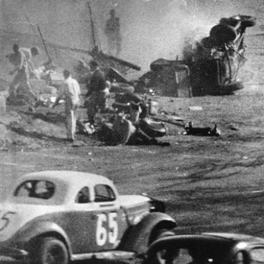 1957 Pete Corey Langhorne Pit Crash