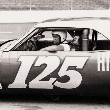 CHARLIE BINKLEY GETTING READY TO GO OUT AND QUALIFY HIS 66 CHEVELLE FOR THE FLAMELESS 300...1970