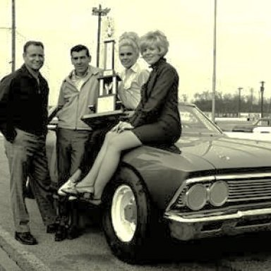 CHARLIE BINKLEY AND WALTER WALLACE POSING WITH THE BABES FOR THE NEWSPAPER..1970!