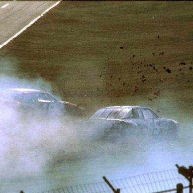 ARCA #65 Rich Bickle #46 Jimmy Spencer Last Lap 1989 @ Daytona (7)