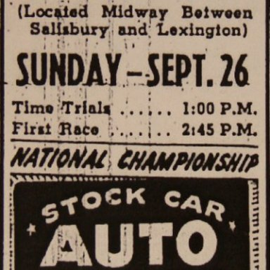 Lakeview Speedway - Sept. 26, 1948
