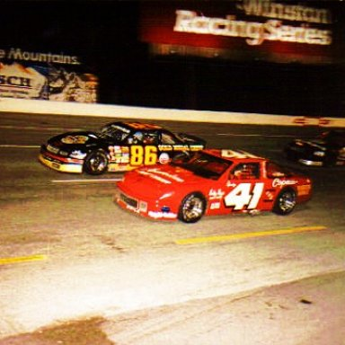 1990 JUST ANOTHER SAT. NIGHT AT THE FAIRGROUNDS - SPARKY HARRINGTON LEADING JEFF GREEN IN 2nd - SOME ROOKIE IN 3rd!