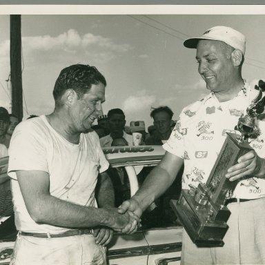 Zervakis winning a Nascar GN race
