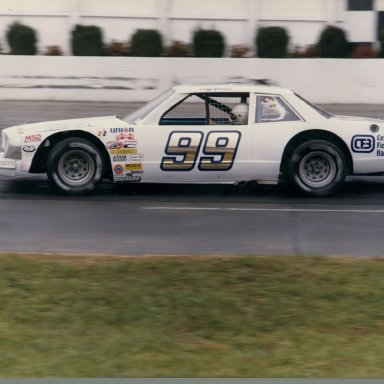 Zervakis White Tornado with Bodine driving at Martinsville