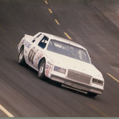 Zervakis Winston Cup car at speed , Bodine Charlotte