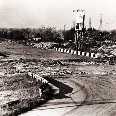 THE DESTRUCTION OF NASHVILLE FAIRGROUNDS IN 1969...GETTING READY TO RECONFIGURE THE TRACK TO A 5/8 MILE 36 DE!GREE BANKED SPEEDWAY
