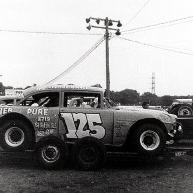 CHARLIE BINKLEY IN 1964 OR 65...LATE MODEL MODIFIED!