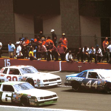 #44 Terry Labonte #6 D.K. Ulrich #30 Willy t Ribbs 1986 Miller American 400 @ Michigan