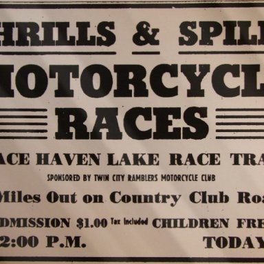 Peace Haven Speedway - 1946