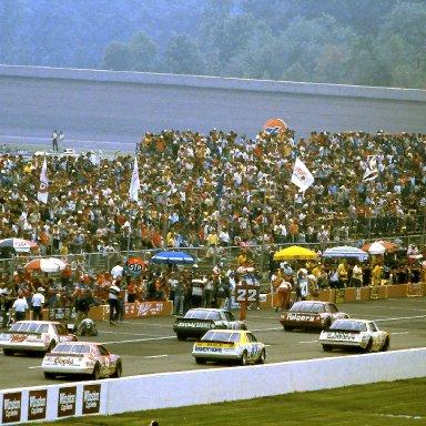 #25 Tim Richmond #55 Benny Parsons 1986 Miller American 400 @ Michigan