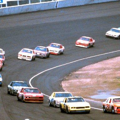#28 Cale Yarborough #3 Dale Earnhardt 1986 Miller American 400 @ Michigan