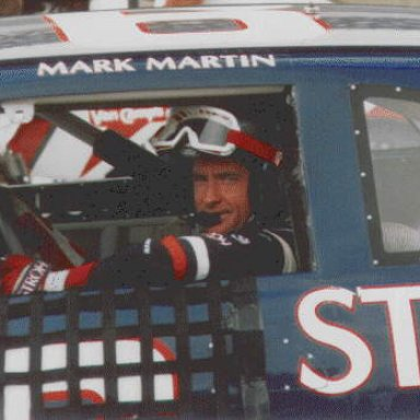 Mark Martin in the Strohs Light T-bird