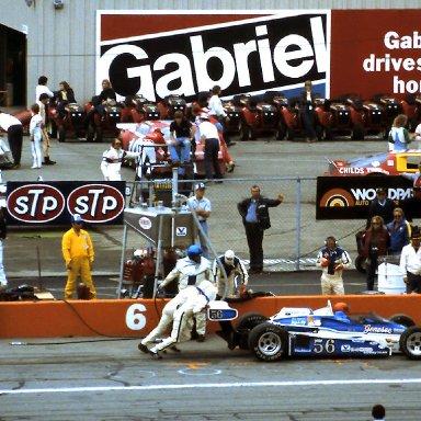 ASA #66 Rusty Wallace #10 Doug Klein #51 Dennis Vogel  CART # 55 Gary Bettenhausen 1982 Detroit News Grand Prix @ Michigan