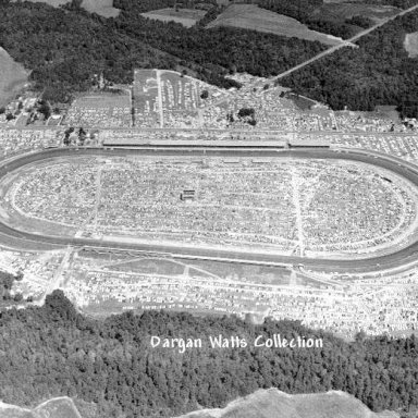 Darlington Raceway before it was filpped