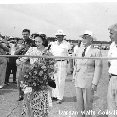 Darlington Raceway Ribbon Cutting 1950