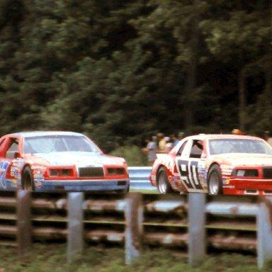#90 Ken Schrader #67 Buddy Arrington 1986 The Budweiser at the Glen