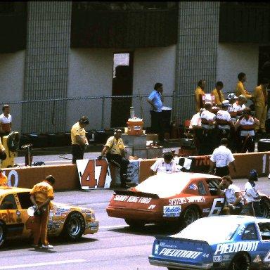 #64 Eddie Bierschwale #4 Rick Wilson #44 Terry Labonte 1986 Champion Spark Plug 400