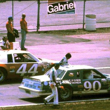 #44 Terry Labonte #90 Jody Ridley 1981 Gabriel 400 @ Michigan