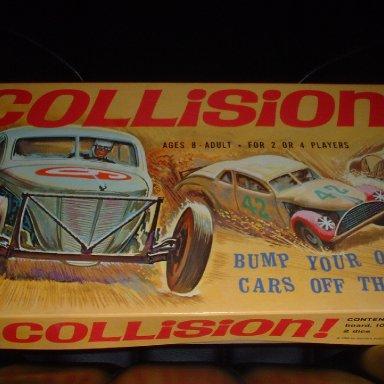 """Collision"" 1969 Modified Stock Car Racing Board Game"