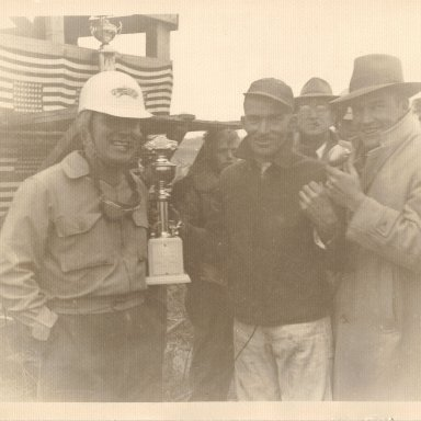 Charles Tidwell Accepting Trophy
