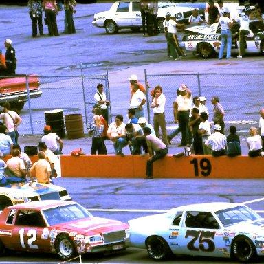 #75 Gary Balough #12 Tim Richmond #24 Cecil Gordon  1981 Champion Spark Plug 400 @ Michigan