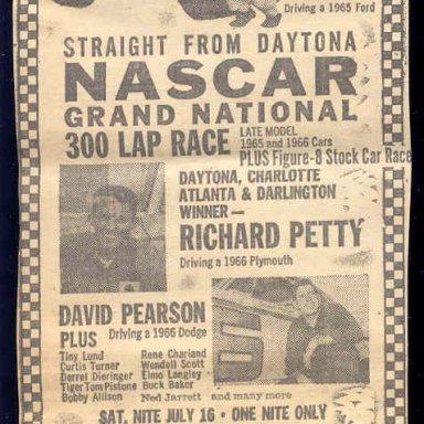 NASCAR GOES TO NEW YORK 1966