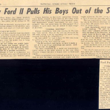 FORD PULLS OUT IN 66
