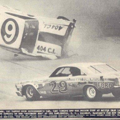 DARLINGTON 67..SAM MCQUAGG CRASH